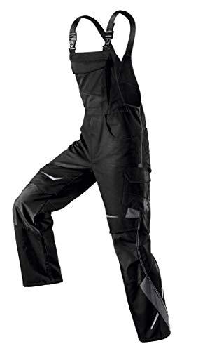 KÜBLER PULSSCHLAG Arbeitslatzhose schwarz, Größe 52, Herren-Arbeitslatzhose aus Mischgewebe, Arbeitslatzhose mit Knieschutztaschen nach EN 14404, leichte Arbeitslatzhose von KÜBLER Workwear