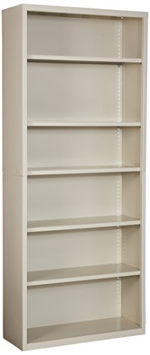 Lorell, LLR41293, Fortress Series Bookcases, 1 Each, Putty