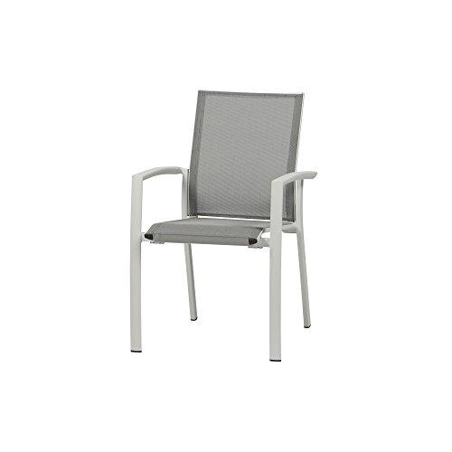 Siena Garden Velia Sessel, weiß-grau matt, 58x56x87 cm