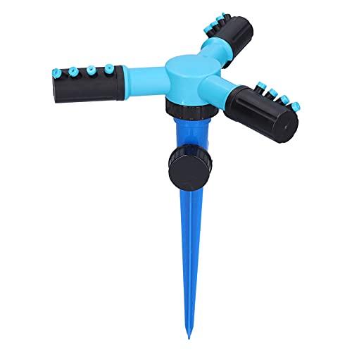 Tissting Gräsmatta trädgård roterande bevattningssystem 3 armar vattenspridare med spikbas vattenspruta för gård ängel ängland