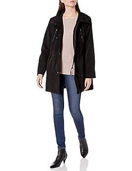 Fleet Street Ltd Women s Faux Silk Anorak Jacket with Button Out Warmer and Detachable Hood Black M