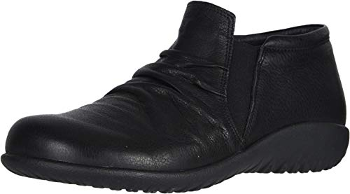 NAOT Footwear Women's Terehu Slip On Shoe Soft Black Lthr 11 M US