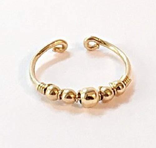 FloweRainboW Verstellbarer Ring Damen - Knöchelring/Midi Ring/Zehenring - Fußschmuck/Knöchelschmuck - Silber Gold