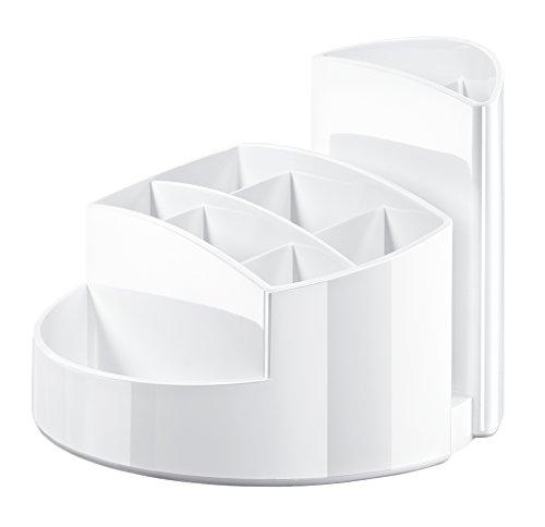 HAN Stifteköcher RONDO 17460-12 in Weiß – Stiftebox aus hochwertigem Kunststoff mit 9 Fächern – Schreibtisch Ordnungssystem für das Büro