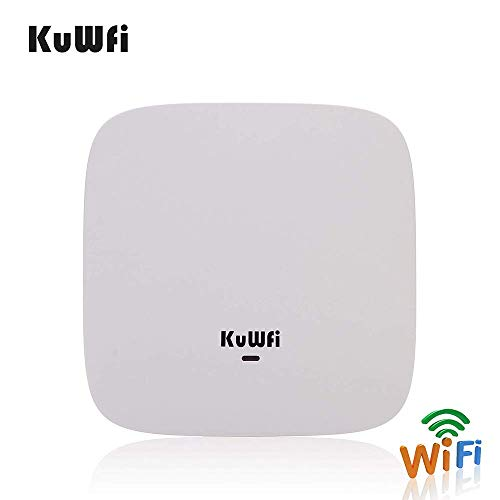 KuWFi 750Mbps plafond AP WiFi Router Dual Band Wireless Access Point POE Router plafondhouder PoE Access Point Repeater 48V POE lange afstand voeding Een stabiele draadloze dekking