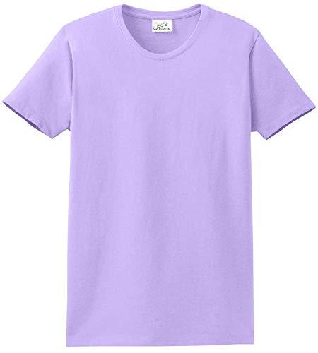 Joe's USA - Womens 6.1-Ounce Cotton T-Shirt-XL-Lavender