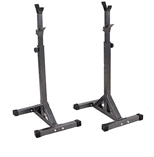 N&W Barbell Rack Adjustable Black Squat Stand Dive Station Steel Squat Stands Barbell Free Pressure Bench Home Gym Portable Dumbbell Stands 🔥