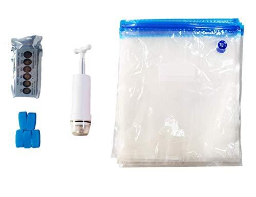Antinsky Bolsas de almacenamiento selladas al vacío para impresora 3D, para evitar la humedad - 15 bolsas, 25 tarjetas con indicador de humedad, 5 clips de sellado y 1 bomba de mano.