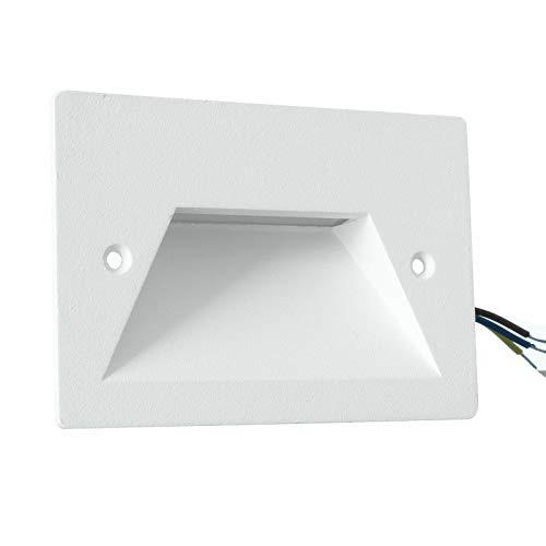 Foco LED empotrable de 3 W para caja 503 220 V aplique luz tenue para exterior IP65 lámpara de pared blanco gris (blanco – luz fría blanca)