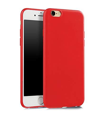 SDTEK Custodia iPhone 6s (Rosso) Cover Case Bumper Caso Matte Matte Silicone Gel per iPhone 6S / 6
