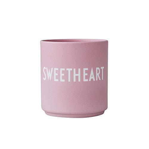 Design Letters Taza Favorite, SWEETHEART (Pink) - Taza decorativa para beber con muchas funciones, Hecho en colores de moda con diferentes declaraciones, Genial como regalo, 250 ml