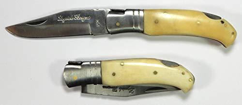 Bois & Mots Laguiole - Couteau de Chasse en os - Longueur Totale : 21 cm - Lame de 9,2 cm