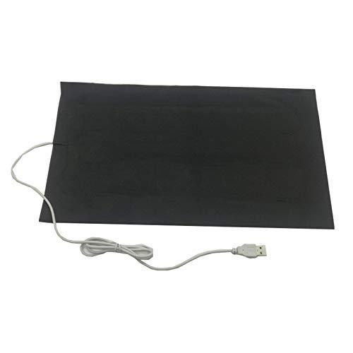 JIEZ Coussin Chauffant pour Animaux de Compagnie, Coussin Chauffant USB, Tapis Chauffant USB avec Thermostat 3ème Vitesse pour Cou, Lombaire, Dos, Coussin, Chauffage de lit pour Animal