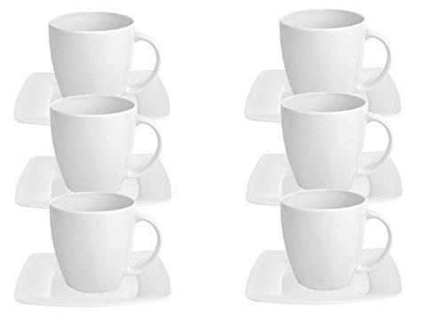 Van Well 6er Set Kaffeetasse mit Untertasse Classico