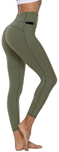 Persit Sporthose Damen, Sport Leggins für Damen Yoga Leggings Yogahose Sportleggins, Olivengrün, 38 (Herstellergröße: M)