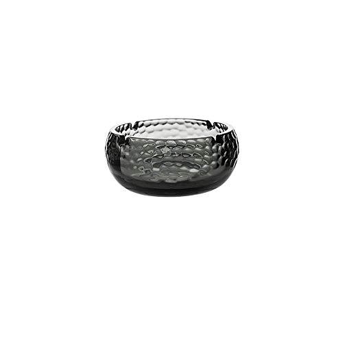 ZXL Asbak Glas Asbak, Transparant Tent Container/Persoonlijkheid Woonkamer/Kantoor Transparant Asbak (Kleur: Grijs-11x5.5CM)