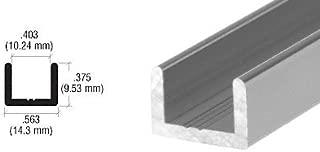 CRL Brushed Nickel Frameless Shower Door Aluminum Regular U-Channel for 3/8