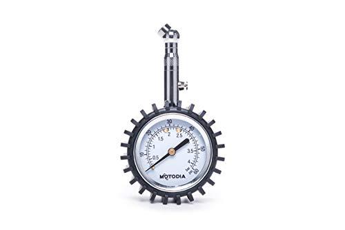 MotoDia MD2 Manómetro Analógico para Neumáticos sin Extensión