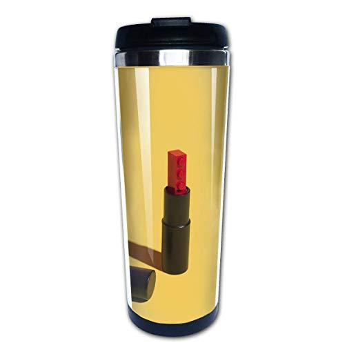 Taza de café de viaje Imagen de lápiz labial Taza de café aislada de acero inoxidable Botella de agua deportiva 13.5 oz (400 ml) MUG-5538