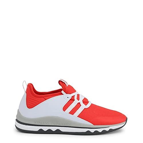 Armani Exchange Damen Herren Turnschuhe Freizeitschuhe Sneaker Art. 945049 8P479 40 EU - 8 USA - 6,5 UK Rosso Bianco RED White