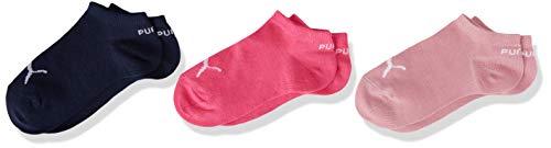 PUMA unisex-child Kids' Quarter (3 Pack) Socks, pink/blue, 31/34 (3er Pack)