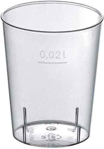 Gastro-Bedarf-Gutheil 1000 Einweg Schnapsgläser 2 cl Trinkbecher Stamperl Medizinbecher Plastikbecher Schnapsbecher 2cl Shot Gläser Stamperl