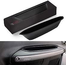 Premium Grab Bar Passenger Storage Tray Organizer Grab Handle Accessory Box for 2011-2017 Jeep Wrangler JK JKU 2-door/4-door, Interior Accessories, Black