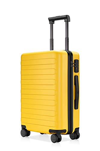 NINETYGO 20 Inch Carry On Luggage, 100% Polycarbonate Hardside Suitcase Luggage With TSA Approved Lock for Business & Travel, 360° Rolling Spinner Wheels, Unexpandable, Yellow