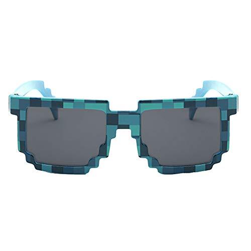 Novedad Gafas De Sol Mosaico con Forma Cuadrada De Moda Unisex Pixel Gafas De Sol para La Tendencia De La Calle De Disparo Regalo De Los Niños