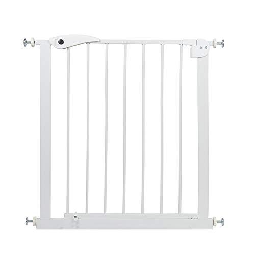 Jeseca Pet Gate - Barrera de seguridad infantil para puertas y pasillos, color blanco - Versatilidad (color: blanco, tamaño: 75-82 cm)