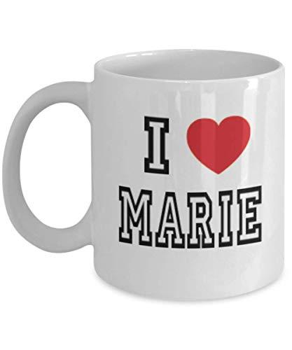 N\A Arie White Coffee Mug Name I Love Marie Los Mejores Regalos inspiradores y Sarcasmo para la Hija, Al2996