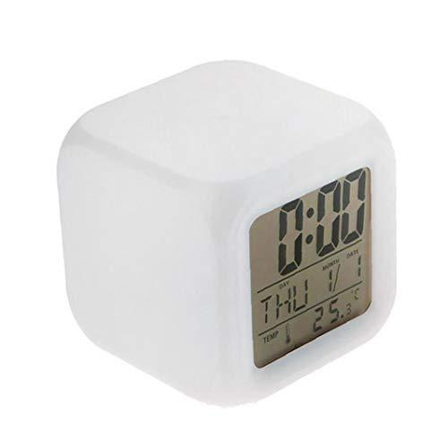 Naicasy Relojes Digitales para los niños Despertadores 12/24 Horas Grandes números Pantalla LED con luz Nocturna de Alarma, Repetir, Calendario para Habitaciones de niños