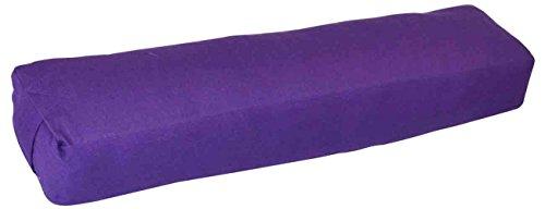 YogaAccessories Pranayama Cotton Yoga Bolster, Purple