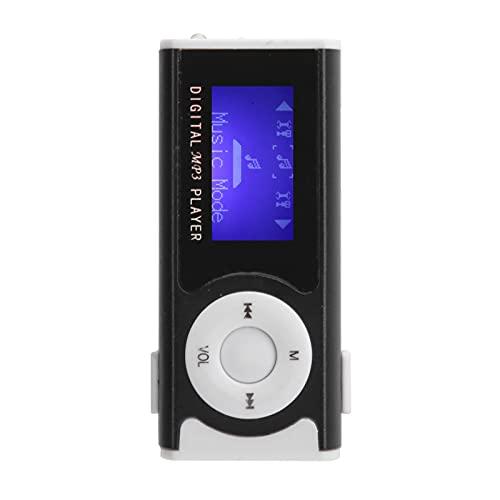 FOLOSAFENAR Lettore MP3 Portatile Sportivo - Lettore Musicale Sportivo con Mini Clip Posteriore per Torcia - per la Riproduzione di Musica per la Corsa Esercizio Fitness(Nero)