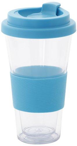 Idelice CO257 741A Mug Isotherme en Double Paroi Plastique Bleu Turquoise 450 ml