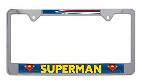 Superman Fly Chrome Metal License Plate Frame