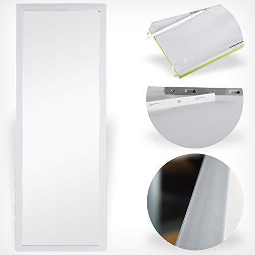 DRULINE Türspiegel Wandspiegel Garderobenspiegel Spiegel Ganzkörperspiegel Dekoration| 34cm x 94 cm x 1.5 cm | Weiß