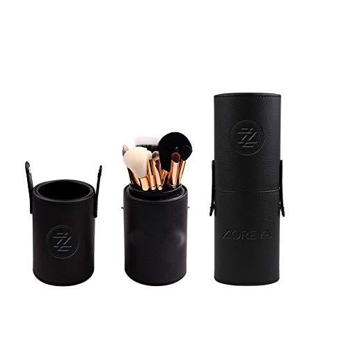 LICHUXIN Pinceau de Maquillage Fibres synthétiques Maquillage Essentielle Rose débutant Soins personnels à Domicile avec Une Brosse Seau Maquillage Fard à paupières,Noir
