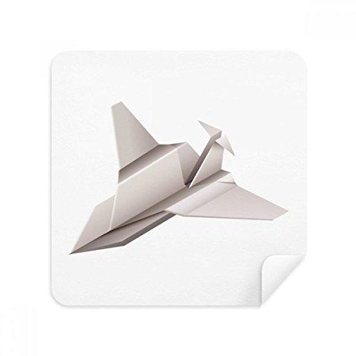 Origami Geometrische Abstract Vliegtuig Patroon Bril Schoonmaken Doek Telefoon Scherm Cleaner Suede Stof 2 stks