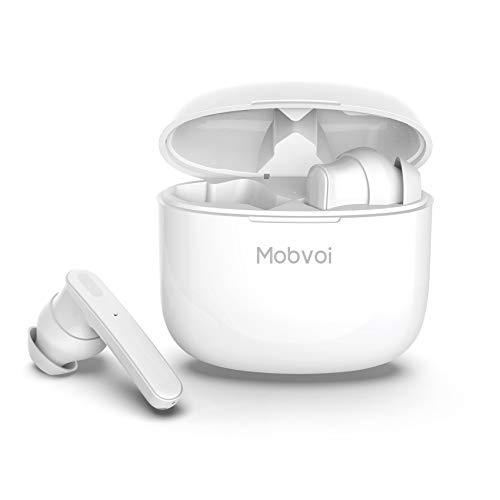 ティックウォッチ Mobvoi ANC 完全ワイヤレスイヤホン ブルートゥースヘッドホン Bluetooth 5.0 高音質 アクティブノイズキャンセリング 左右分離型 両耳通話 IPX5防水 5時間連続再生 タッチコントロール iPhone/Android対応 (Mobvoi ANC) ホワイト