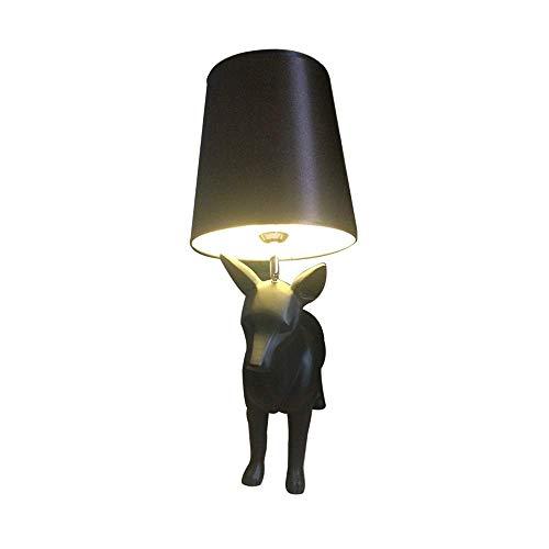 Lámpara Escritorio Creativo Puppy Cute Resin Lamp/Home Lighting Table Lamp Bedroom Creative Modern Floor Lamp 50 * 68cm