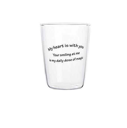 Qnmbdgm mok keramiek mok creatief Engels glas kopje glas wijnglas sap drankbeker