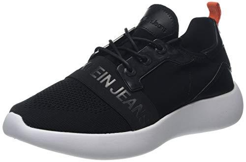 Calvin Klein Jeans Mel Knit Ckj Logo, Sneakers Basses Homme, Noir (Black 000), 42 EU