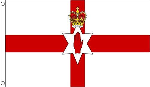 Bandera de Irlanda del Norte Mano Roja de Ulster 152 x 91cm