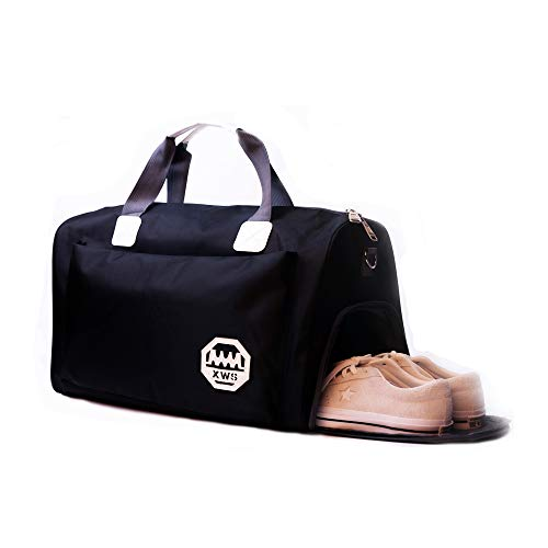 losolese Sporttasche Reisetasche 36L Badetasche Gym Tasche mit Schuhfach Schultertaschen Wasserabweisende Umhängetasche Fitnesstasche Damen Riementasche für Sport, Fitness, Fitnessstudio, Reisen