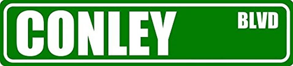 Pixy Ink Conley BLVD Last Name Family Custom Made and Personalized Street Sign