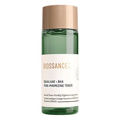 Biossance Squalane + BHA Pore Minimizing Toner. Get Visibly Clearer, Smaller-Looking Pores. Gently Exfoliates and Hydrates for Smooth, Refreshed Skin. Travel Size (1.7 Ounces)