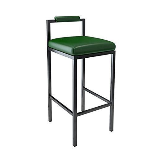 Moderne eenvoudige barstoel, modieuze bureaustoel, huiselijke persoonlijkheidsstoel, creatieve stoel met hoge benen (donkergroen)