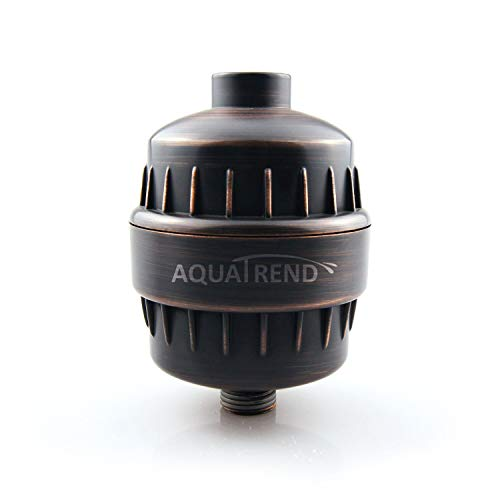 AQUATREND Shower Head Filter, Oil-Rubbed Bronze Universal 15-Stage Shower Filter for Hard Water Reduce Chlorine,Dry Itchy Skin,Dandruff, Improve the Condition of Your Skin,Hair and Nails