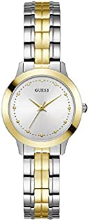 Guess Dress Watch for Women, Stainless Steel Case, Silver Dial, Analog -W0989L8
